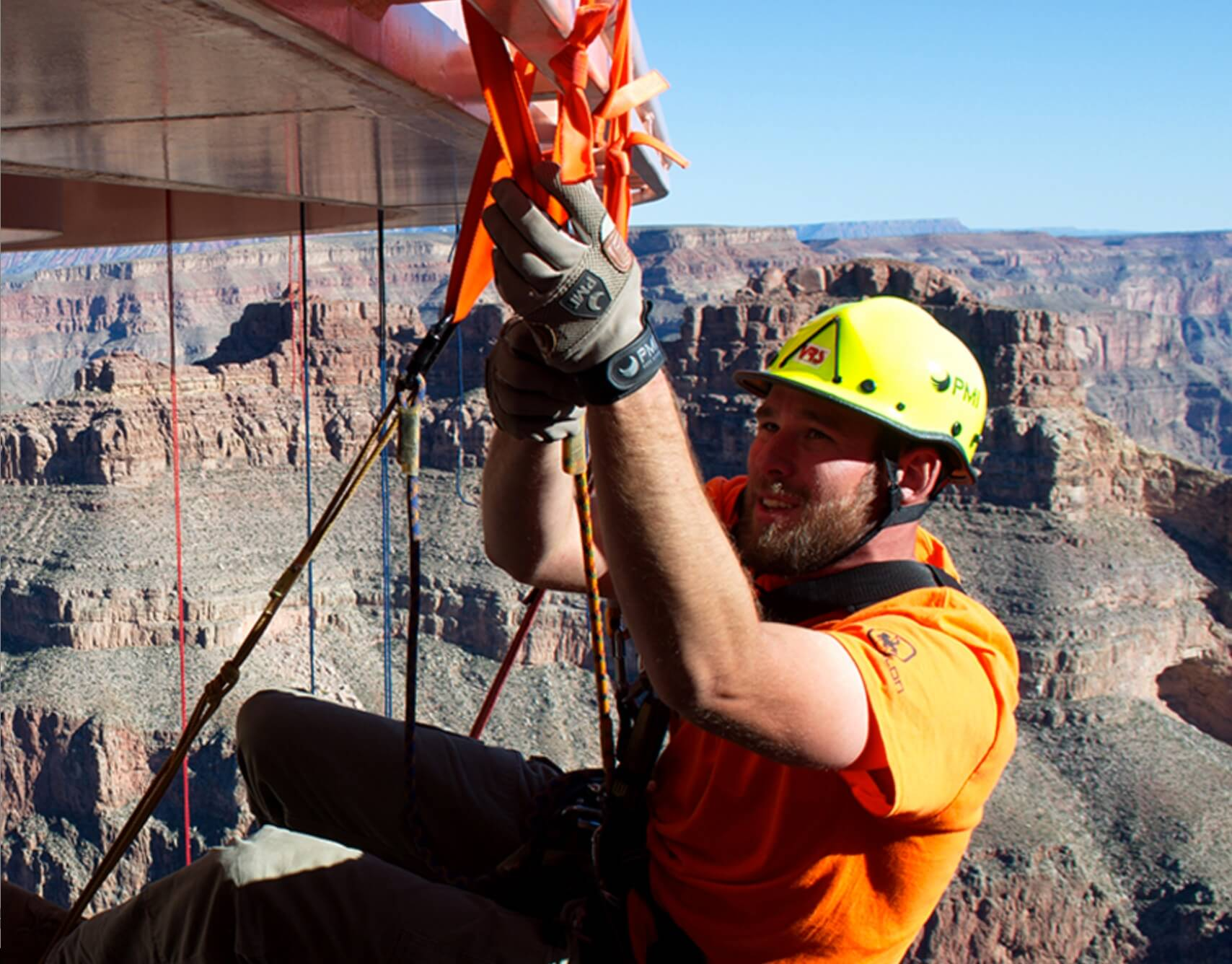 Rope access work Hoover Dam