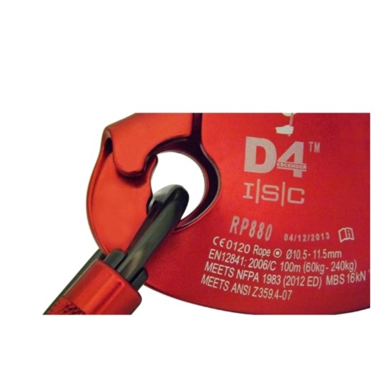 HD26268R ISC D4™ Work-Rescue Descender - Attachment-hole