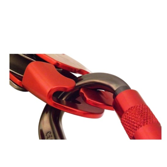 HD26268R ISC D4™ Work-Rescue Descender -Karabiner-Scoop