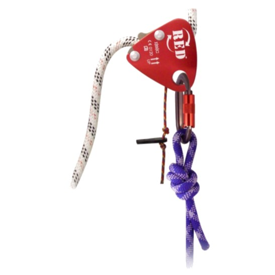 HD26294 ISC RED Back-up Device with Popper Cord for 10.5mm -11.5mm Rope