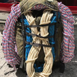 backpack with rope